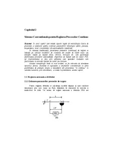 Sisteme Conventionale pentru Reglarea Proceselor Continue - Pagina 1
