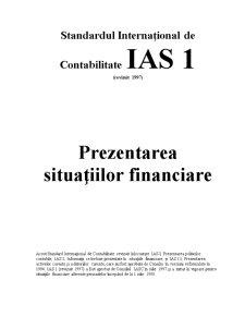 Standarde Internaționale de Contabilitate IAS - Pagina 1