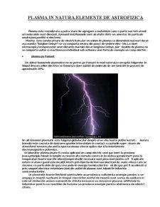 Plasma in Natura - Elemente de Astrofizica - Pagina 1