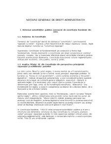Noțiuni de Drept Administrativ - Pagina 1