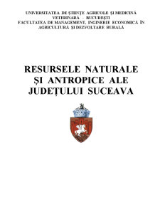 Resursele Naturale și Antropice ale Județului Suceava - Pagina 1
