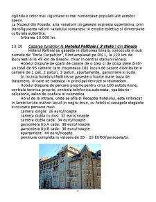 Proiect Agronomia Turismului - Sejur 7 Zile Valea Prahovei - Pagina 4