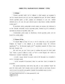 Obiectul Raportului Juridic Civil - Pagina 1