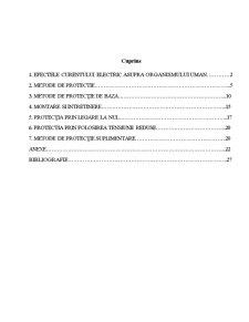 Instalatii de Protectie Impotriva Electrocutarii - Pagina 1