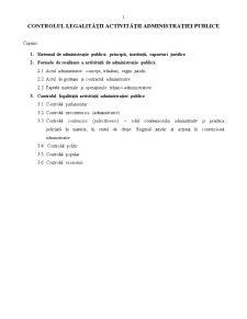 Controlul Legalității Activității Administrației Publice - Pagina 1