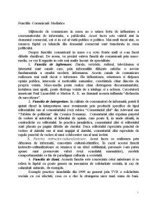 Functiile Comunicarii Mediatice - Pagina 1