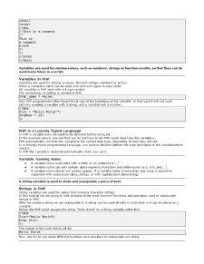 Introducere în PHP - Pagina 2