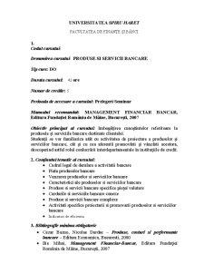 Produse și Servicii Bancare - Pagina 1