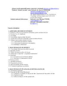 Sisteme Informatice pentru Asistarea Deciziei - Pagina 2