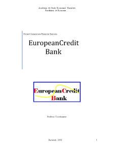 European CreditBank - Institutie Financiar-Bancara Fictiva - Pagina 1