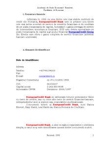 European CreditBank - Institutie Financiar-Bancara Fictiva - Pagina 2