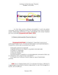 European CreditBank - Institutie Financiar-Bancara Fictiva - Pagina 3