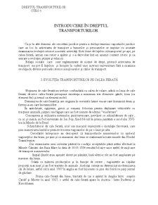 Dreptul Transporturilor si Asigurarilor - Pagina 1