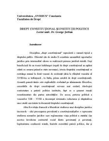 Drept Constituțional și Instituții Politice - Pagina 1
