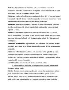 Nulitatea - Sanctiune Specifica Dreptului Civil - Pagina 2