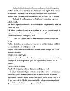 Nulitatea - Sanctiune Specifica Dreptului Civil - Pagina 3