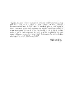 Politica Monetara in Cazul Romaniei - Moneda si Credit - Pagina 1