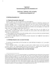 Drept Civil - Capitolul 1 - Pagina 1