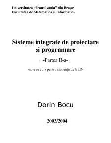 Sisteme Integrate de Proiectare și Programare - Pagina 1