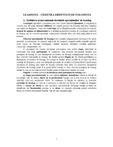 Leasing-ul - Pagina 1