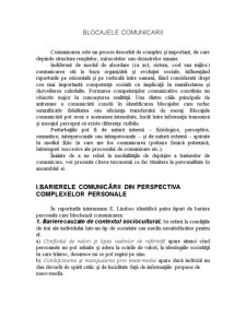 Blocajele Comunicarii - Pagina 3