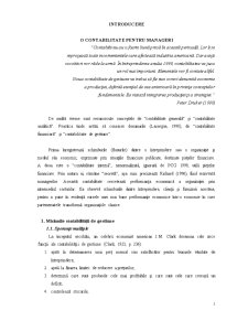Contabilitate Manageriala - Pagina 1