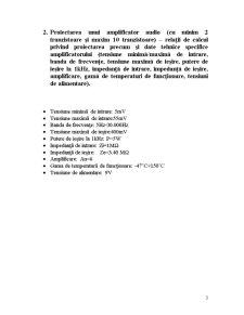 Proiectare Asistata de Calculator - Amplificator Audio - Pagina 4