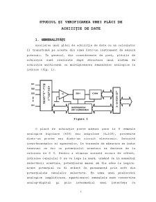 Studiul și Verificarea unei Plăci de Achiziție de Date - Pagina 1
