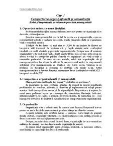 Comunicatii in Afaceri - Pagina 1