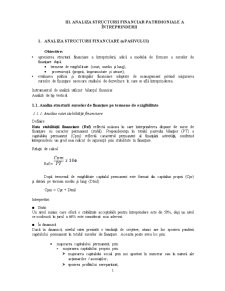 Analiza Structurii Financiar-Patrimoniale a Intreprinderii - Pagina 1