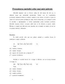 Prezentarea Metodei Celor Mai Mici Pătrate - Pagina 1