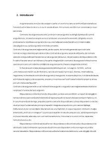 Asigurarea de Raspundere Civila pentru Malpraxis in Domeniulo Sanatatii - Pagina 1