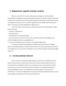 Asigurarea de Raspundere Civila pentru Malpraxis in Domeniulo Sanatatii - Pagina 5