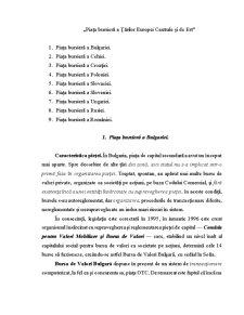 Piața Bursieră a Țărilor Europei Centrale și de Est - Pagina 1