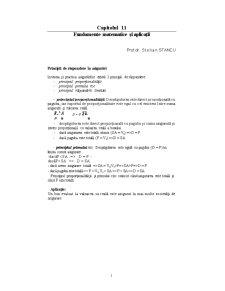 Fundamente Matematice și Aplicații - Pagina 1