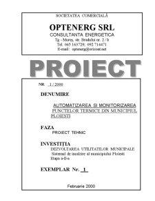 Automatizarea ai Monitorizarea Punctelor Termice din Municipiul Ploiesti - Pagina 1