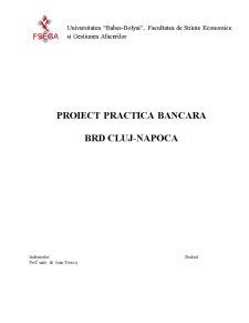 Practica Bancara - BRD - Pagina 1