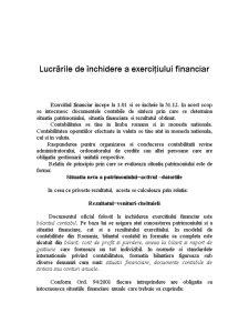 Lucrările de Închidere a Exercițiului Financiar - Pagina 1