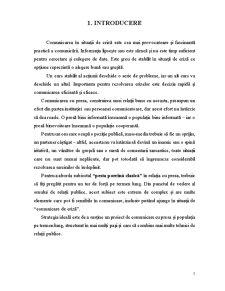 Criza - Definitie, Tipologii, Etape, Situatii de Criza, Comunicarea de Criza, Managementul Crizei - Pagina 3