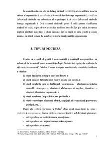 Criza - Definitie, Tipologii, Etape, Situatii de Criza, Comunicarea de Criza, Managementul Crizei - Pagina 5