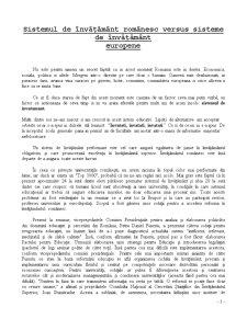 Invatamantul Romanesc vs Invatamantul European - Pagina 1