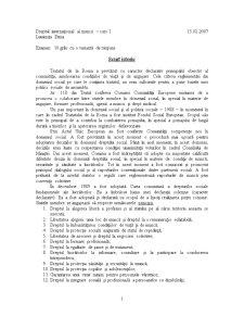 Dreptul European al Muncii - Pagina 1
