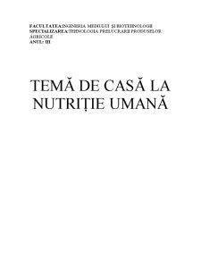 Nutritie Umana - Caracteristicile Nutritionale ale Legumelor - Pagina 1