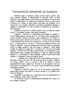Nutritie Umana - Caracteristicile Nutritionale ale Legumelor - Pagina 2