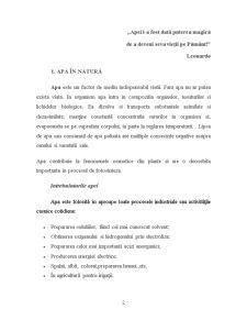 Apa in Natura, Poluarea Apei Consecintele Poluarii Apelor si Protectia Apelor - Pagina 2