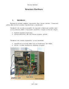 Structura Hardware - Pagina 1