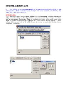 Material Rapoarte și Export Date - FoxPro - Pagina 1