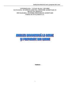 Analiza Biochimică la Carne și Preparate din Carne - Pagina 1