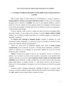 Activitatea de Cercetare Stiintifica in Comert - Pagina 1