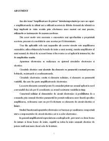 Amplificatoare de Putere - Pagina 1